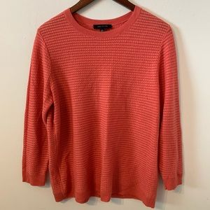 Ann Taylor coral red pullover sweater size L
